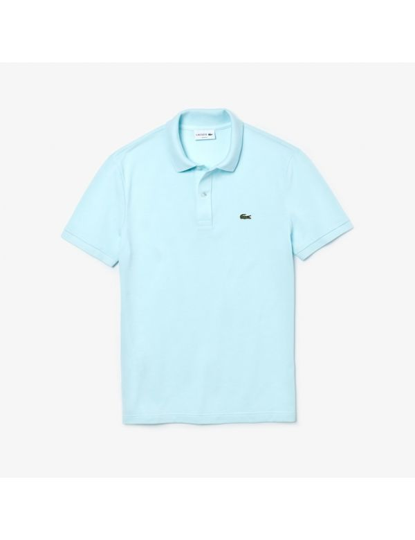 lacoste slim fit polo blue clair