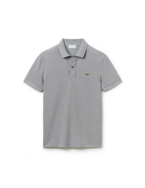 LACOSTE SHORT SLEEVE SLIM FIT PIQUE POLO platine