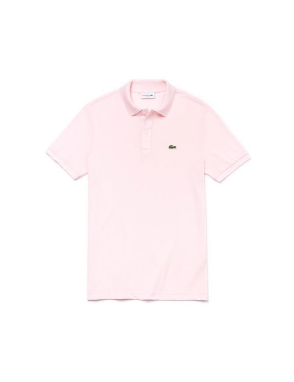 lacoste slim fit polo rose