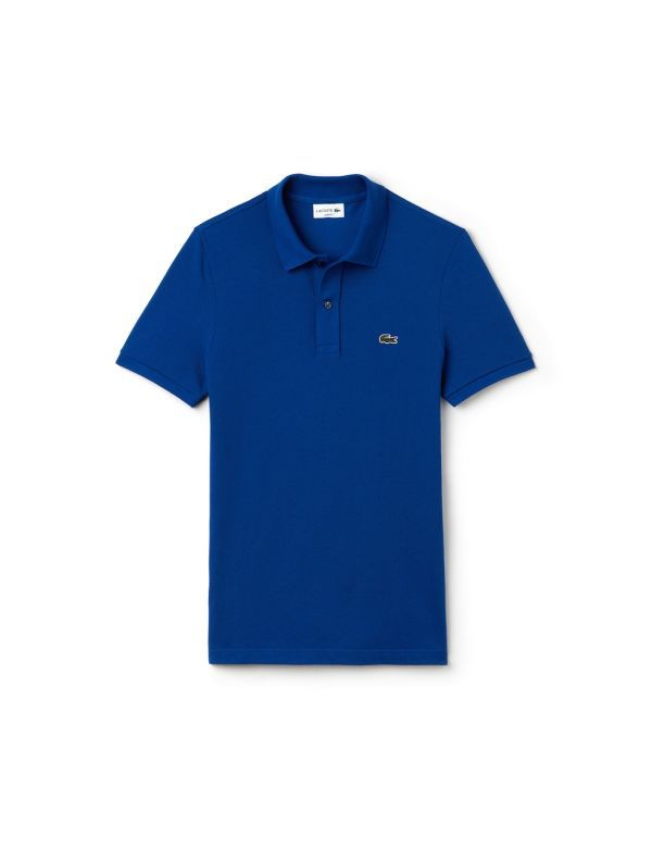 lacoste slim fit polo blue