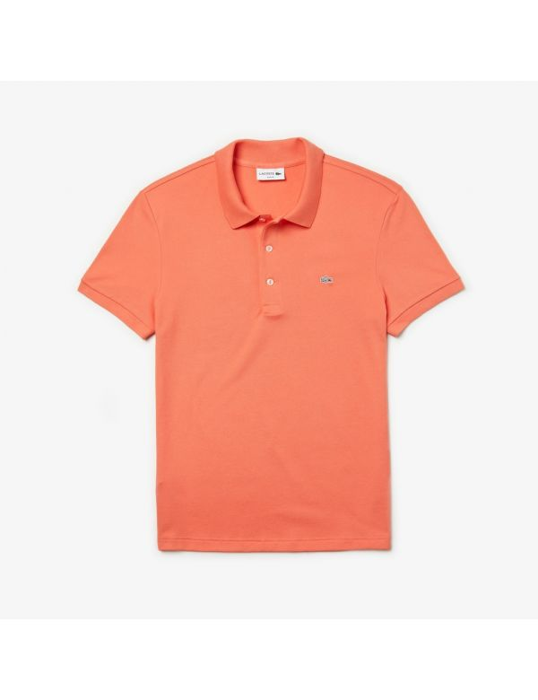 lacoste stretch slim fit orange ael