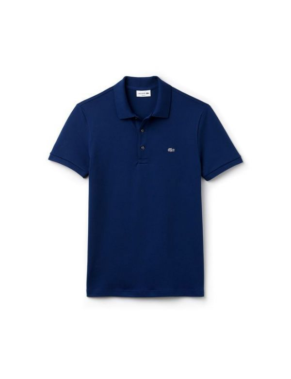 LACOSTE SHORT SLEEVE STRETCH SLIM FIT POLO marino
