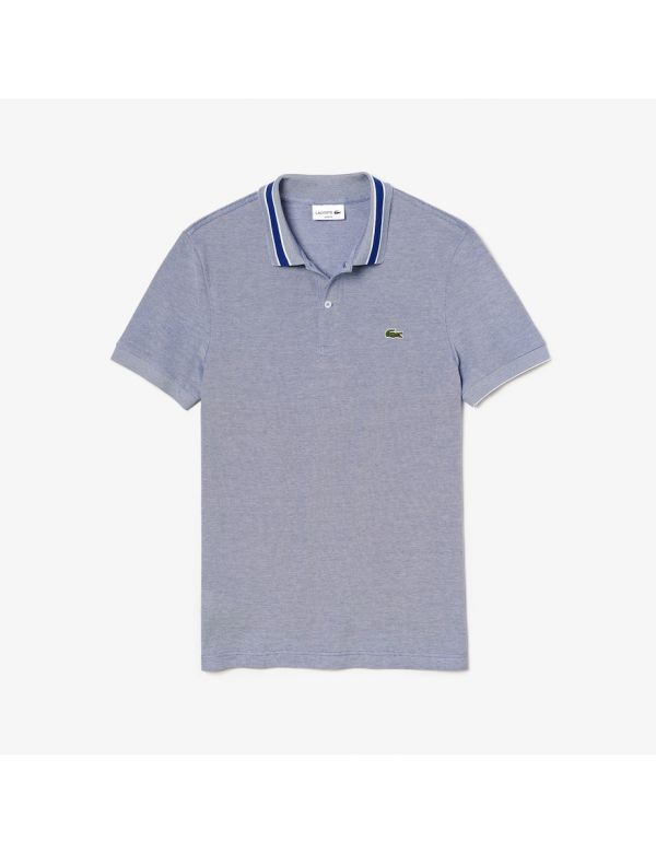 lacoste slim fit polo blue marine blanc