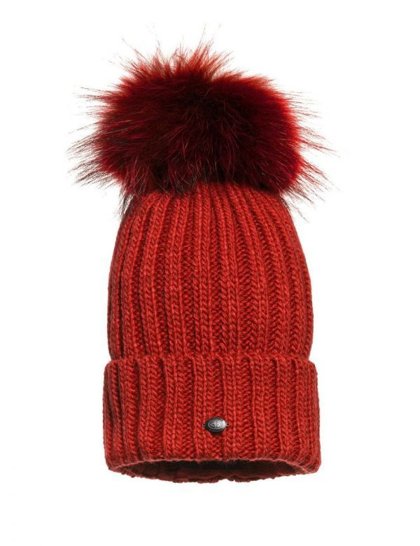 Naara beanie poppy red