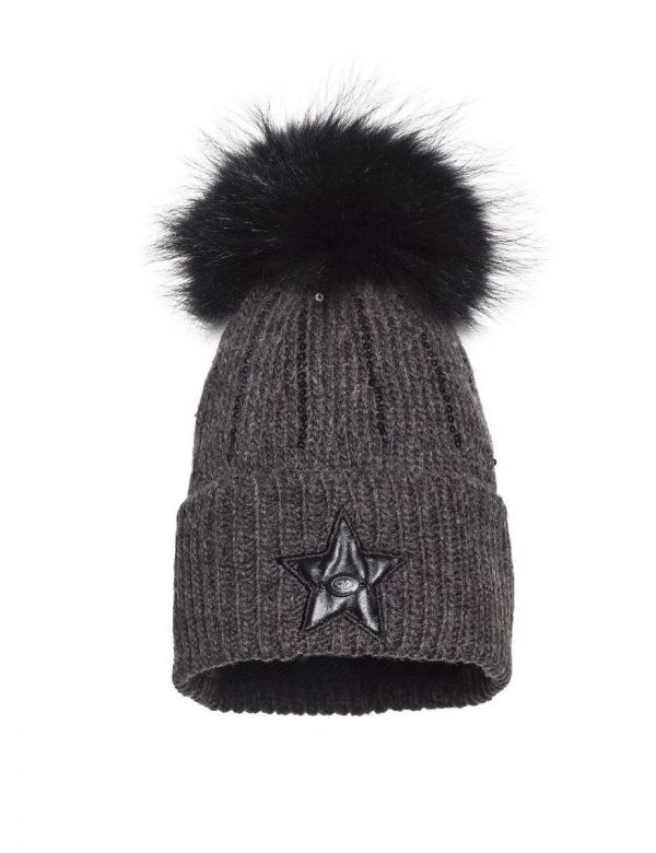 goldbergh lola beanie dark grey melange