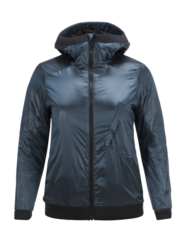 PEAKPERFORMANCE WOMEN'S POWDERHOUND LINER SKI JACKET BLUE STEEL