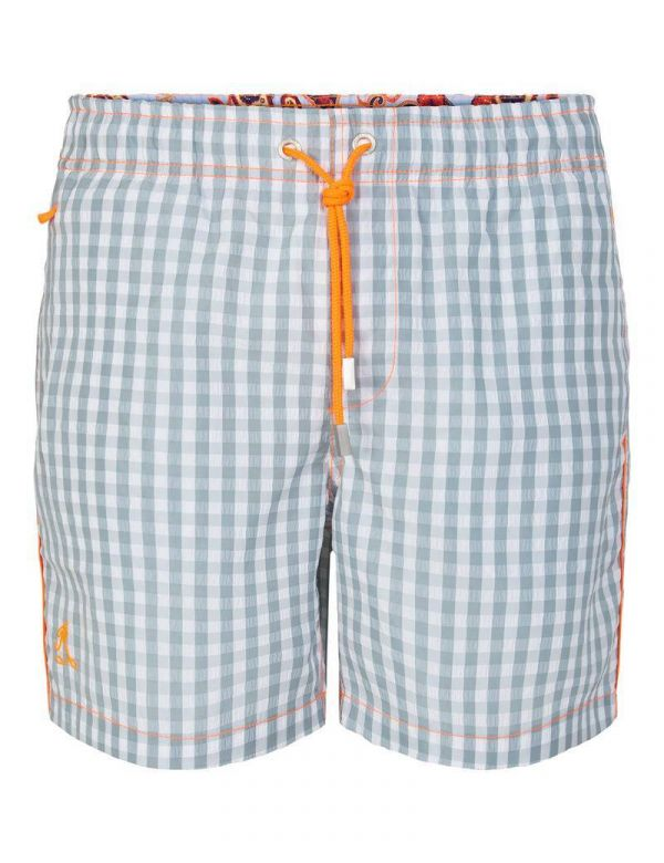 RAMATUELLE ST. BARTH CHECKERED ZWEMBROEK shark