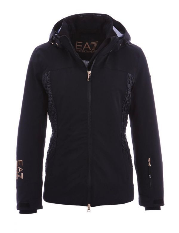 armani stretch bomber ski jacket black