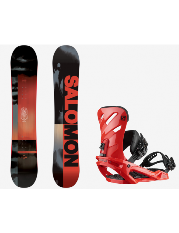 SALOMON PULSE + SALOMON RHYTHM RED