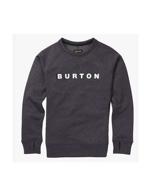 BURTON WOMEN'S OAK CREW SWEATSHIRT True black heather