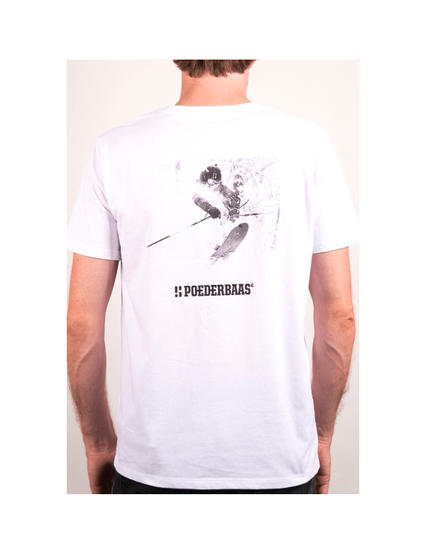 POEDERBAAS T-SHIRT WIT FOTOPRINT