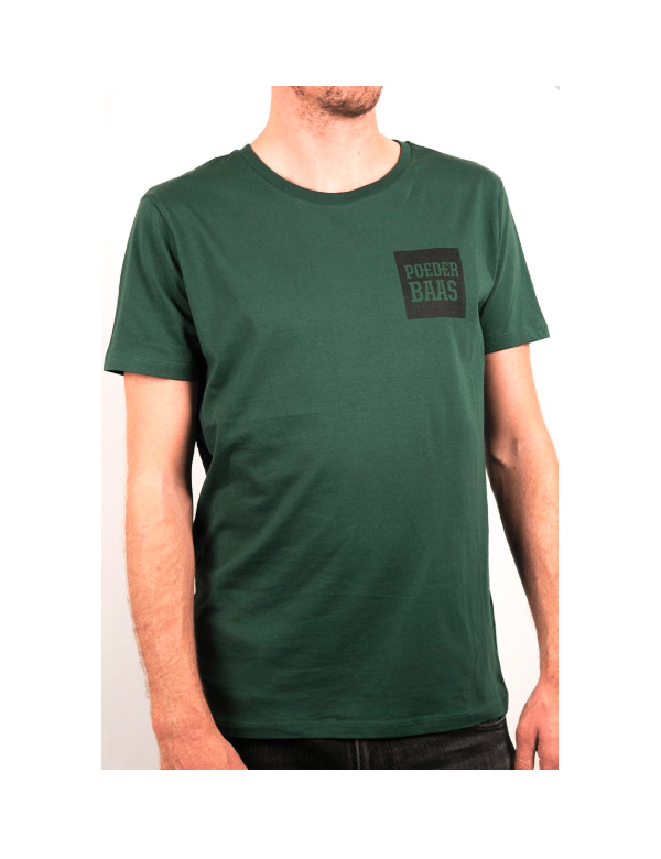 POEDERBAAS T-SHIRT CREATE YOUR SIGNATURE Donker groen