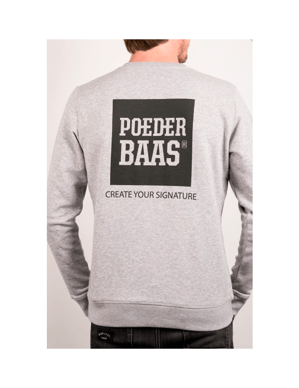 POEDERBAAS CREATE YOUR SIGNATURE TRUI Grijs