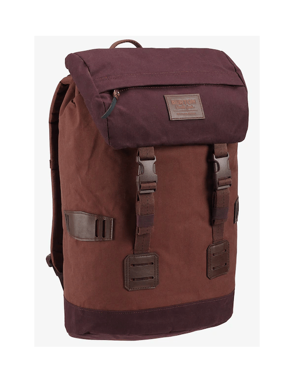 BURTON TINDER PACK Cocoa brown waxed canvas