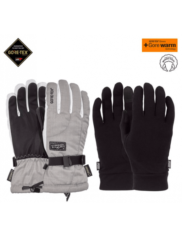 POW STYLE CRESCENT GTX® LONG GLOVE + LINER Grey