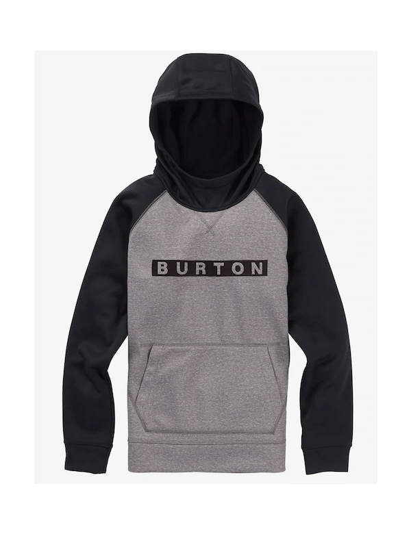 BURTON BOY'S CROWN BONDED Pullover Hoodie htrmnt/trublk