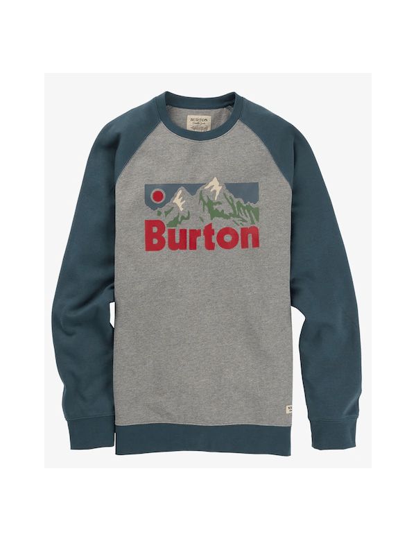 BURTON MEN'S VISTA CREW SWEATSHIRT Grey Heather