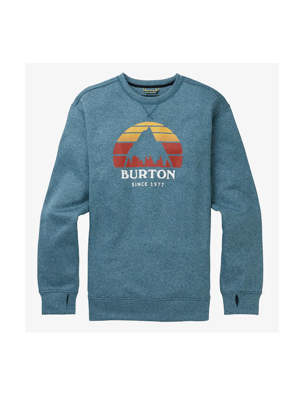 BURTON MEN'S OAK CREW SWEATSHIRT Blue Sapphire Heather