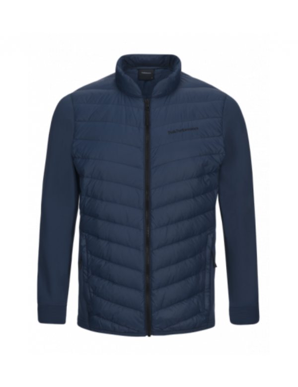peak performance men's frost hybrid jacket decent blue