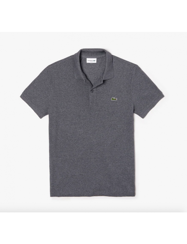 LACOSTE SLIM FIT PIQUE POLO eclipse jaspe