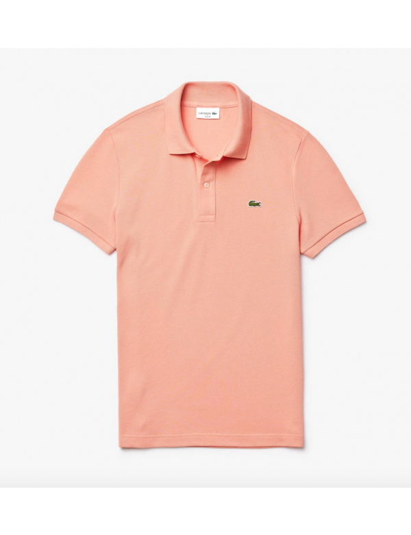 LACOSTE SLIM FIT POLO Elf pink