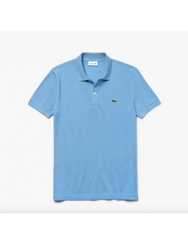 LACOSTE SLIM FIT POLO Pennant blue chine