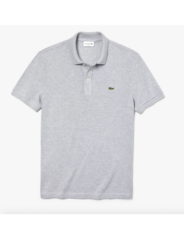 LACOSTE SLIM FIT POLO Silver Chine