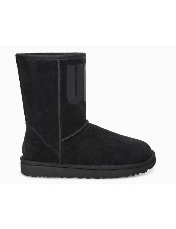 UGG CLASSIC SHORT RUBBER Black