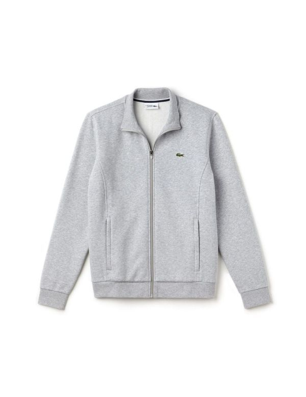 LACOSTE SPORT MOLTON SWEATER argent chine