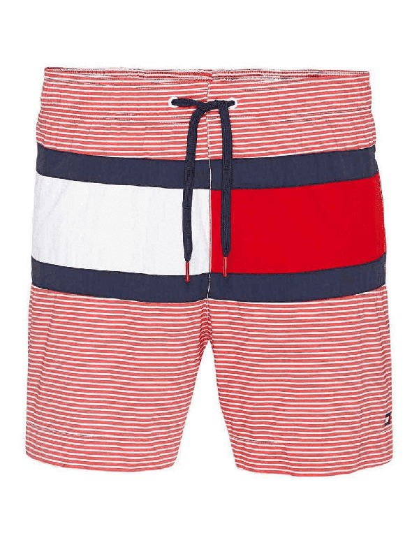 tommy hilfiger blocked striped short