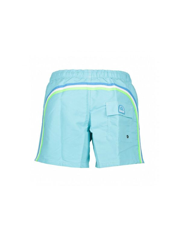 SUNDEK ELASTIC WAIST MID-LENGTH SWIMSHORT Waterfall blue