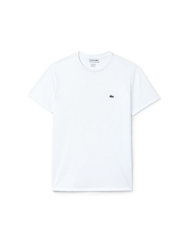 LACOSTE T-SHIRT MET RONDE HALS WHITE