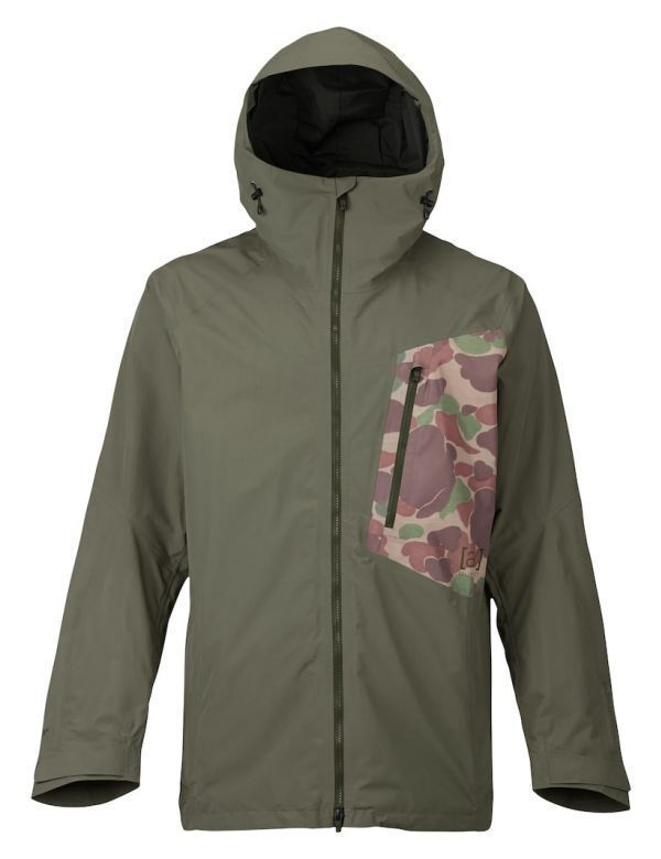 BURTON AK 2L CYCLIC JACKET dusty olive kodiak camo
