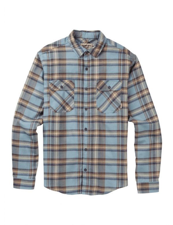 BURTON BRIGHTON FLANNEL wt sky stella plaid