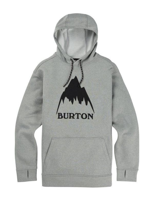 BURTON OAK PULL OVER HOODIE Monument heather