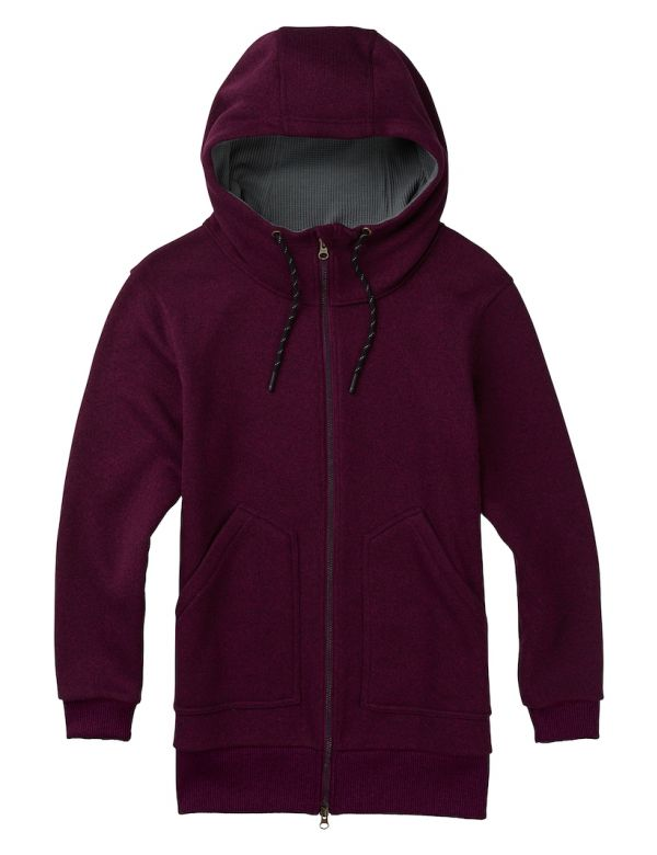 burton women's minx full zip dove heather