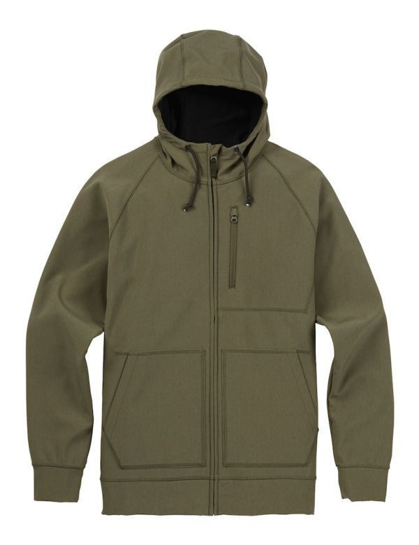 BURTON BONDED FULL-ZIP HOODIE dusty olive heather