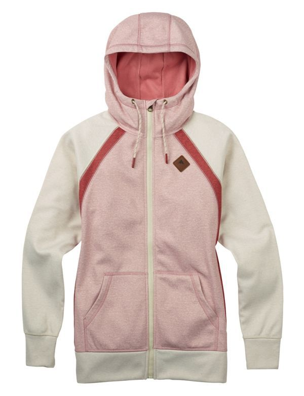 BURTON WOMEN'S FULL ZIP dusty rose heather