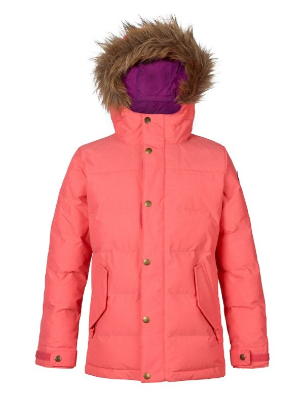 BURTON GIRLS TRAVERSE JACKET georgia peach