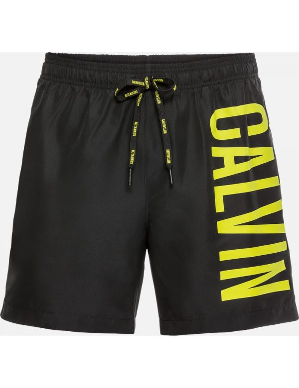 CALVIN KLEIN MEDIUM DRAWSTRING ZWEMSHORT black yellow