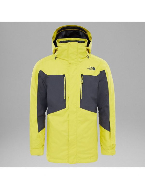 THE NORTH FACE M CLEMENT TRICLIMATE JACKET ACID YELLOW ASPHALT GREY