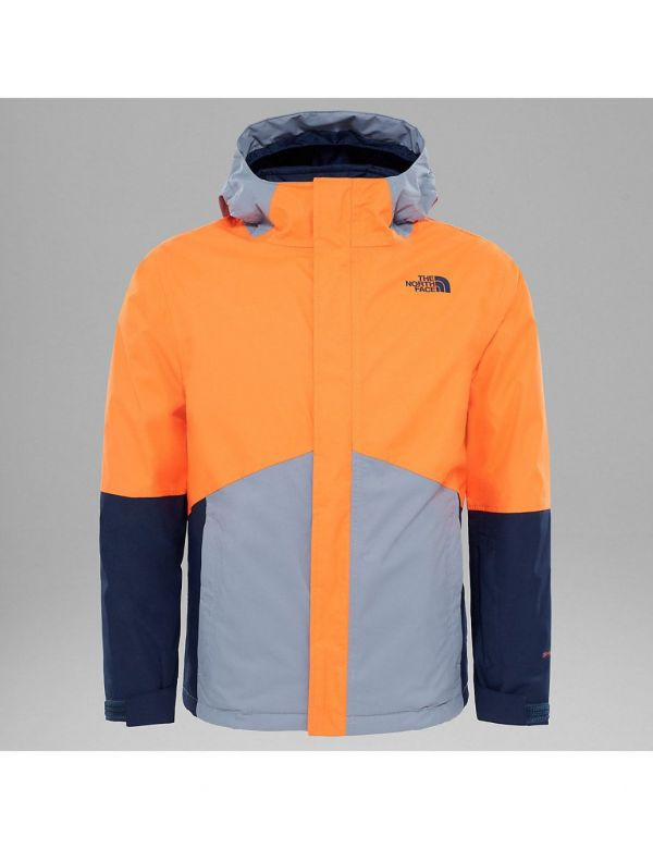 THE NORTH FACE KIDS BOUNDARY JACKET POWER ORANGE