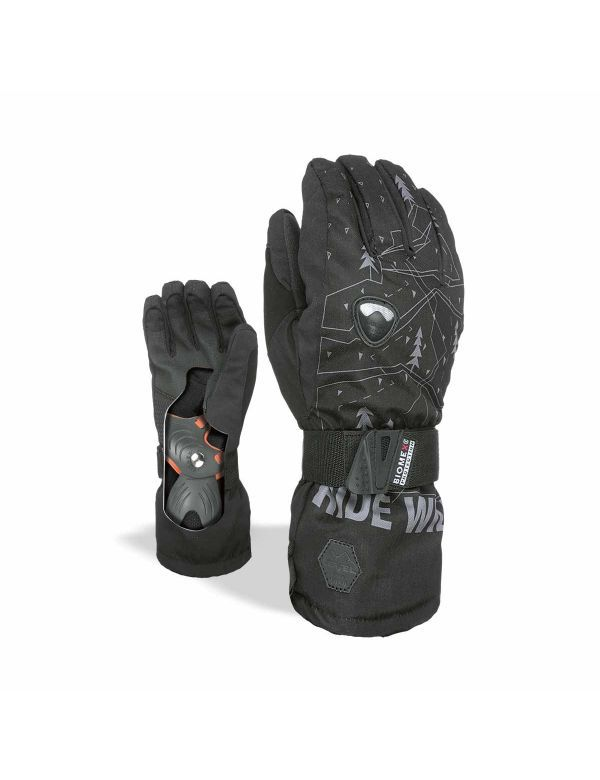 LEVEL FLY JR. GLOVE GREY BLACK