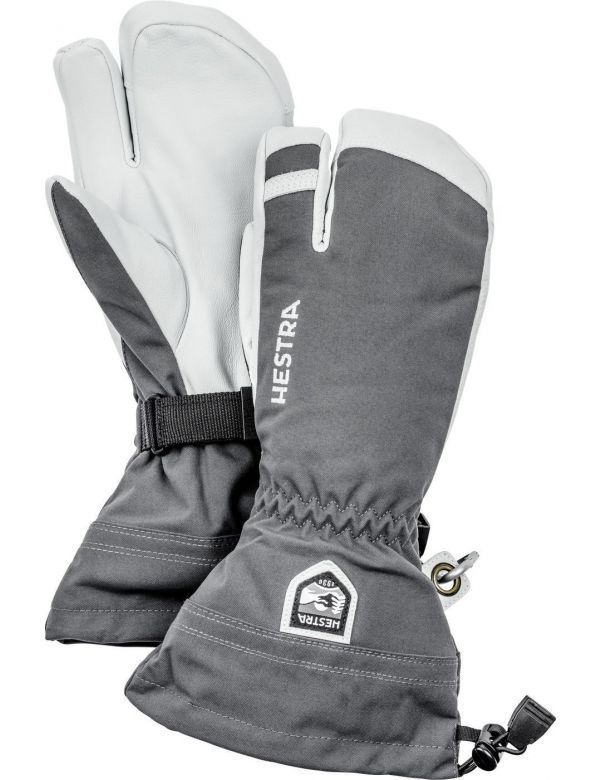 HESTRA ARMY LEATHER HELI SKI 3-FINGER grey