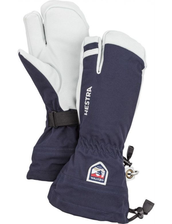 HESTRA ARMY LEATHER HELI SKI 3-FINGER navy