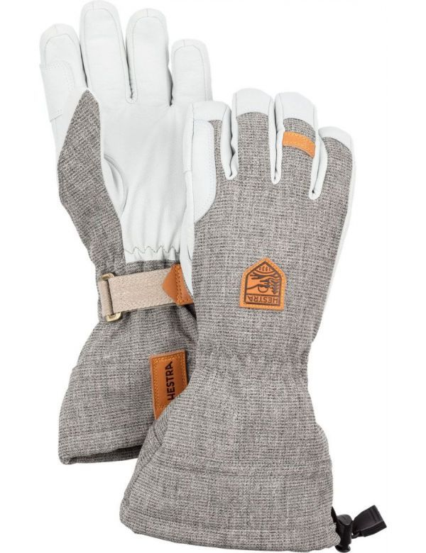 HESTRA ARMY LEATHER PATROL GAUNTLET 5-finger grey