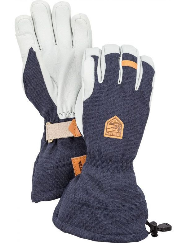 HESTRA ARMY LEATHER PATROL GAUNTLET 5-finger navy