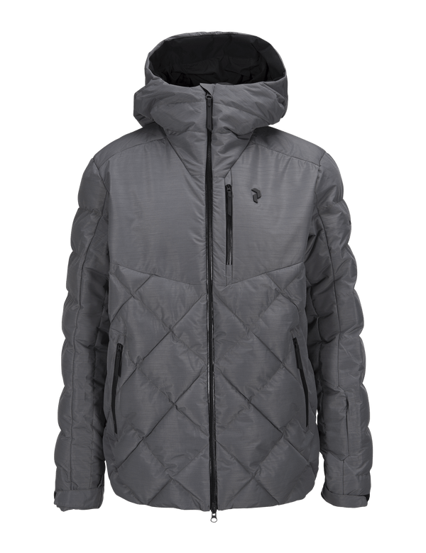 PEAKPERFORMANCE MEN'S ALASKA MELANGE SKI JACKET GREY MELANGE