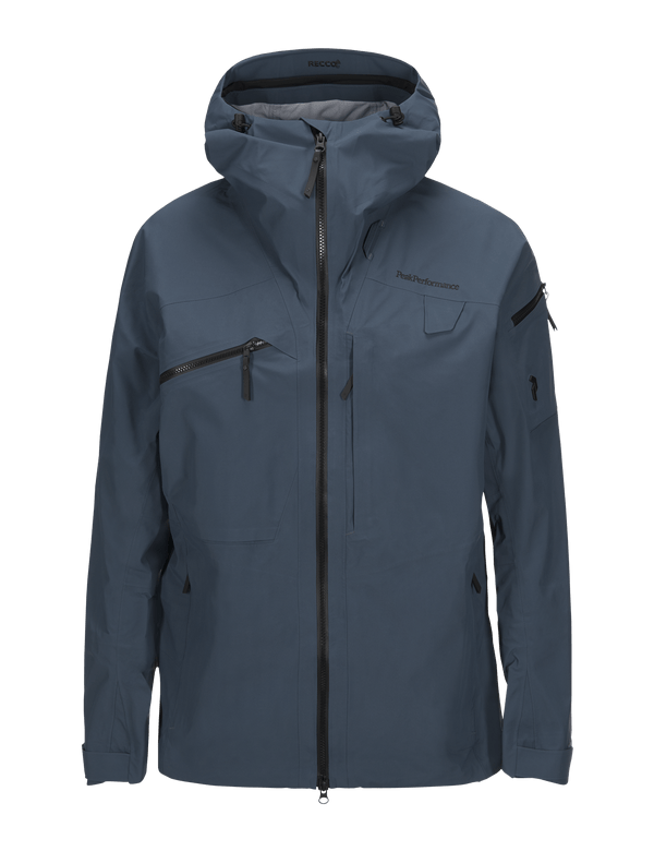 PEAKPERFORMANCE MEN'S ALPINE SKI JACKET BLUE STEEL