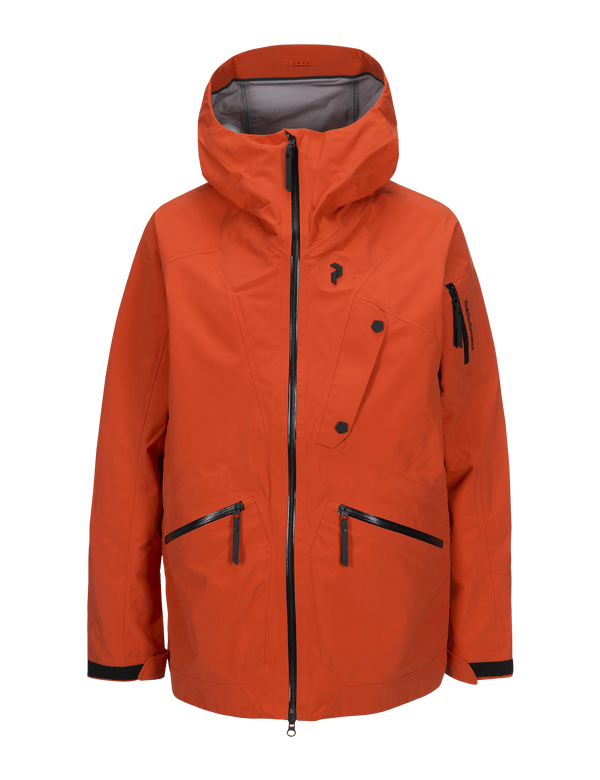 PEAKPERFORMANCE MEN'S BEC SKI JACKET ORANGE LAVA